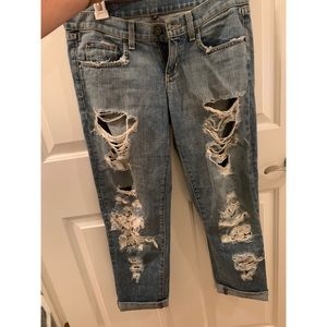 Carmar Jeans with Rips and Flora Patchwork